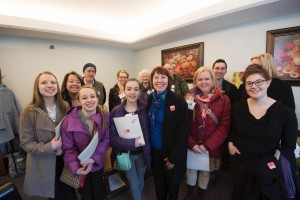Arts Advocates meet with Rep. Jeanne Poppe. Photo Credit Scott Streble.