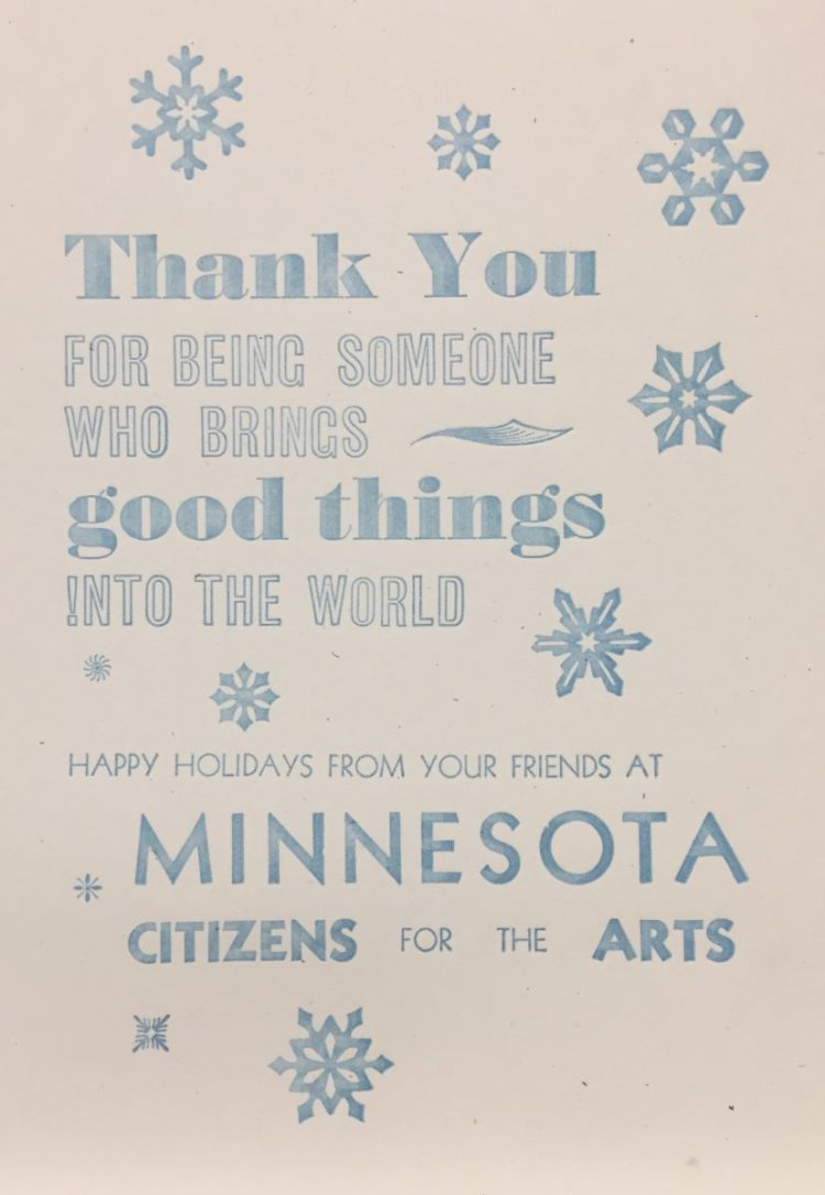 Arts Alert: Thank You from All of Us