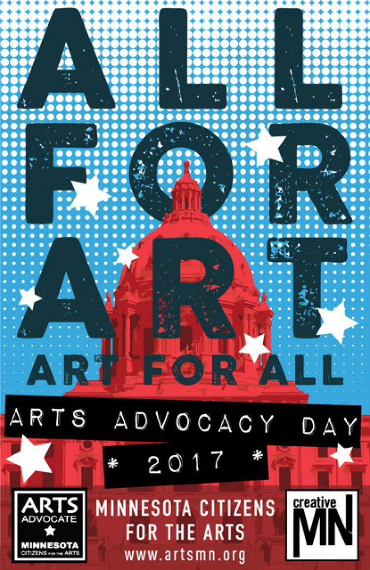 Arts Alert: Arts Advocacy Day is Feb. 28: All for Art Poster!