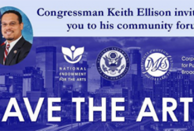 Rep. Keith Ellison Event to Save the NEA was THURSDAY, August 24