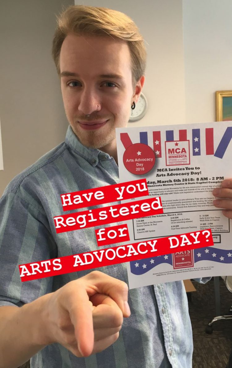 Arts Alert: We Want You! for Arts Advocacy Day on March 6, 2018