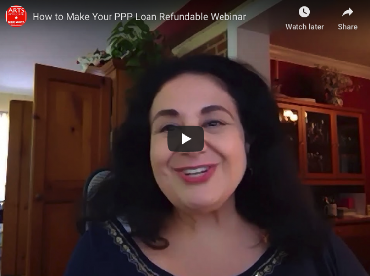 Arts Alert: Watch MCA's How to Make Your PPP Loan Refundable Webinar with Nina Ozlu Tunceli